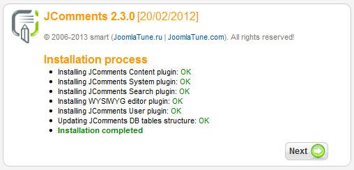Instalacion de jcomments